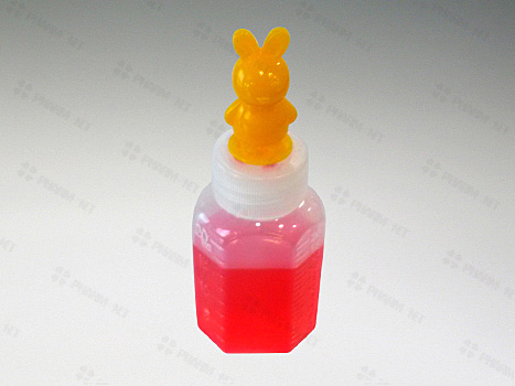 긴마개 말랑이투약병 20ml(캐릭터)노랑토끼- 100개 * 10봉지